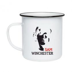 Кружка емальована Sam Winchester