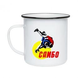 Кружка емальована Sambo
