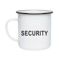 Кружка эмалированная Security