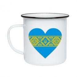 Кружка эмалированная Серце України - FatLine