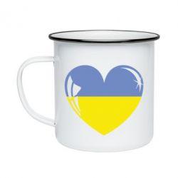 Кружка емальована Серце України