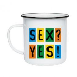 Кружка эмалированная Sex?Yes!