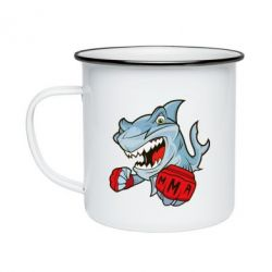 Кружка емальована Shark MMA