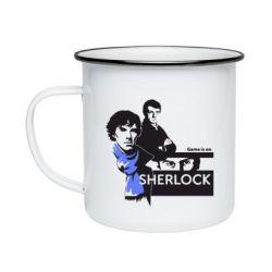 Кружка эмалированная Sherlock (Шерлок Холмс)