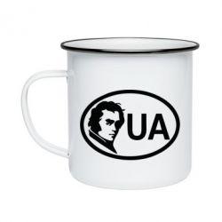 Кружка емальована Shevchenko UA