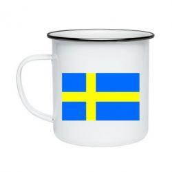 Кружка емальована Швеція