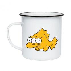 Кружка эмалированная Simpsons three eyed fish - FatLine