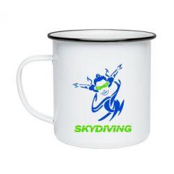 Кружка емальована Skidiving