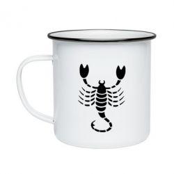 Кружка емальована скорпіон