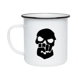 Кружка эмалированная Skull and Fist