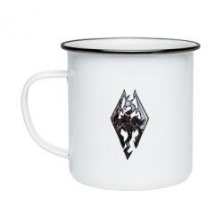 Кружка эмалированная Skyrim Logo
