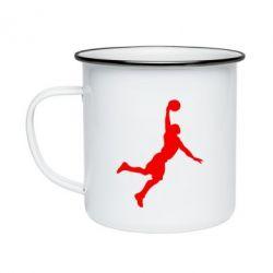 Кружка емальована Slam dunk