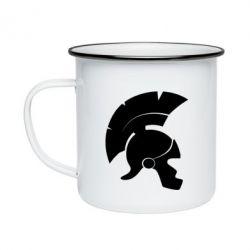 Кружка эмалированная Spartan helmet