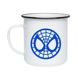 Кружка эмалированная Спайдермен лого