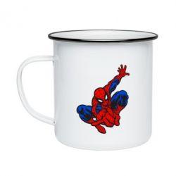 Кружка эмалированная Spiderman - FatLine