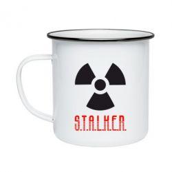 Кружка эмалированная Stalker