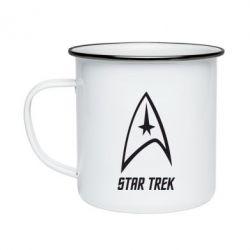 Кружка емальована Star Trek