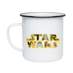Кружка емальована Star Wars 3D