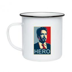 Кружка емальована Stark Hero