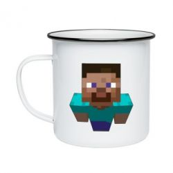 Кружка эмалированная Steve from Minecraft