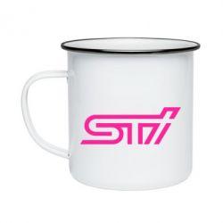 Кружка эмалированная STI Logo