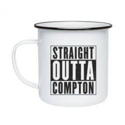 Кружка эмалированная Straight outta compton - FatLine