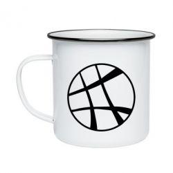 Кружка эмалированная Strange Logo