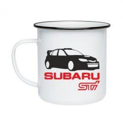 Кружка эмалированная Subaru STI