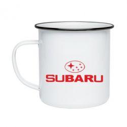 Кружка емальована Subaru