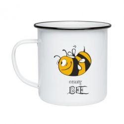 Кружка эмалированная Сумасшедшая пчелка
