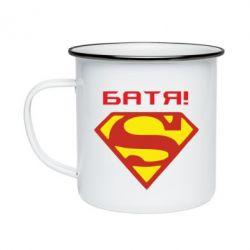 Кружка емальована Super Батя