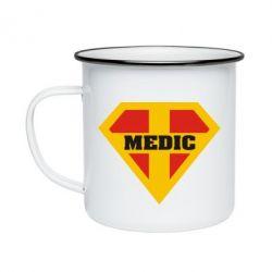 Кружка емальована Super Medic