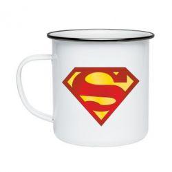 Кружка эмалированная Superman Classic