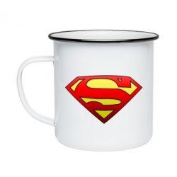 Кружка эмалированная Superman Logo