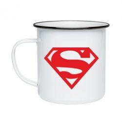 Кружка эмалированная Superman одноцветный