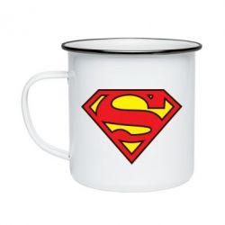 Кружка эмалированная Superman Symbol