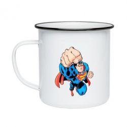 Кружка емальована Супермен Комікс