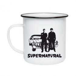 Кружка емальована Supernatural Брати Вінчестери