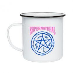 Кружка эмалированная Supernatural круг - FatLine