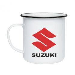 Кружка эмалированная Suzuki - FatLine