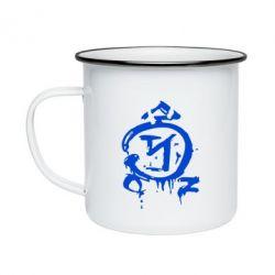 Кружка эмалированная Сверхъестественное логотип - FatLine
