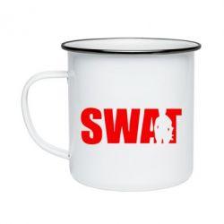 Кружка эмалированная SWAT