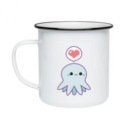Кружка эмалированная Sweet Octopus