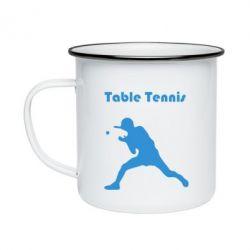 Кружка емальована Table Tennis Logo