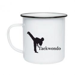 Кружка эмалированная Taekwondo