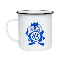Кружка емальована Тасманійський диявол Volkswagen