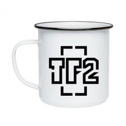 Кружка эмалированная Team Fortress 2 logo