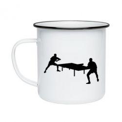 Кружка емальована Тенісний стіл