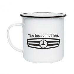 Кружка емальована The best or nothing