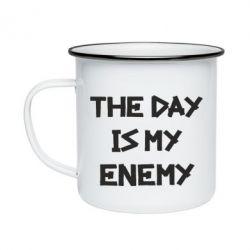 Кружка емальована The day is my enemy